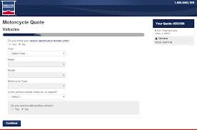 shelter motorcycle insurance quote step 3