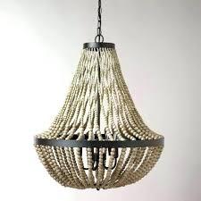 wood bead chandelier pottery barn large wood bead chandelier awesome beads for chandeliers 2 wood bead