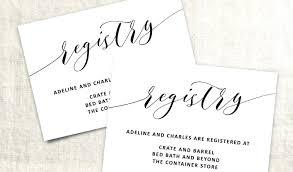 Wedding Insert Templates Gift Card Wedding Registry Lovely Template Word Invitation