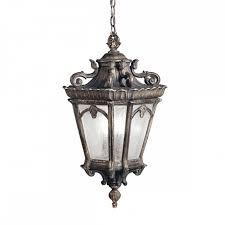 gothic lantern lighting. Ornate Gothic Hanging Lantern For Exterior Use, Matt Bronze With Seeded Glass Lighting L