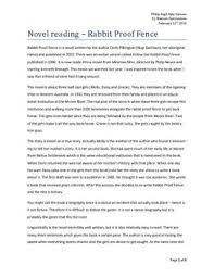about the rabbit proof fence essay about the rabbit proof fence