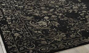 timely silver area rug 8x10 nourison hand tufted opaline midnight 8x10 the