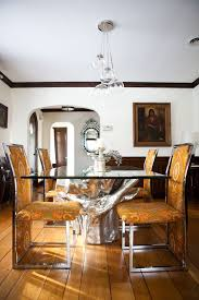 dining room table glass inlay. glass dining table base room eclectic with arched doorway dark stained inlay n