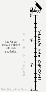 Growth Chart Markers Sale Dump Truck Growth Chart Wall Decal Stickers Diy Height Ruler Black