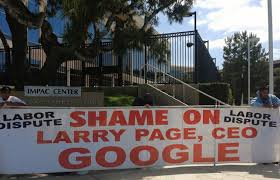google office irvine 1. protesting larry page at google irving office irvine 1 c