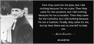 Martin Niemoller Quote