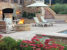 stamped concrete patio with fireplace. Modern Patios Stamped Concrete Patio With Fireplace V