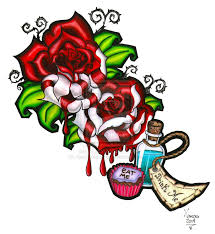 alice in wonderland eat me drink me painting the roses red
