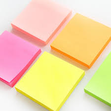100 Sheets Fluorescence Color Sticky Note Mini Post Portable