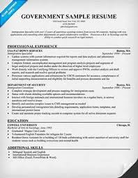 Gallery Of Examples Of Federal Resumes