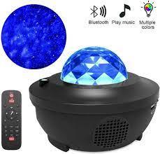 LED renkli yıldızlı projektör bluetooth USB ses kontrolü müzik çalar  projeksiyon lambası|Sahne Aydınlatması Efekti