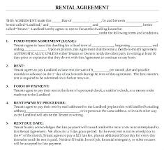 house rental agreement sample rental property lease agreement template