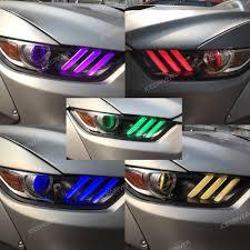 2017 Mustang Lights Icedriver For Ford Mustang Drl Rgb Multicolor Led Boards 2015 2017 Daytime Running Lights Red Blue Demon Eye Lighting Bulbs
