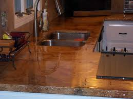 image of poured in place concrete countertops