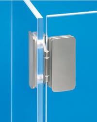 glass door hinge for all glass constructions inset