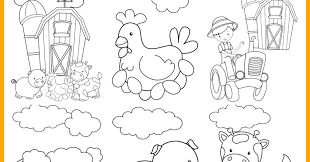 This page has a lot of free printable farm worksheet for kids,parents and prschool teachers. Farm Animal Printable Colouring Pages Messy Little Monster