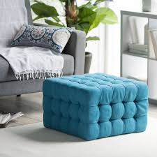 top 82 fantastic blue tufted ottoman coffee table in square shape with no stools cushioned furniture narrow oval upholstered padded large round glass