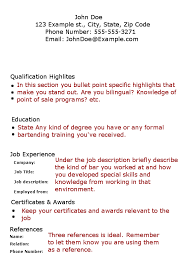 Bartender resume objective to get ideas how to make enchanting resume 17