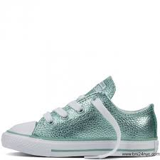 converse metallic glacier white white chuck taylor all star metallic leather baby toddler