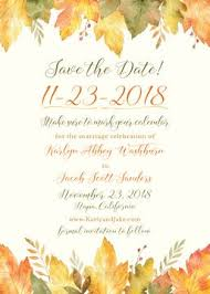 Fall Party Invitations Stationery Style