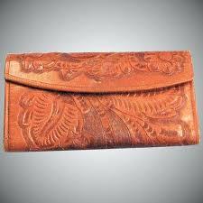 tooled leather wallet vintage hand custom