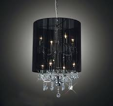 black shaded chandelier stunning crystal chandelier with drum shade about interior home designs 4 lighting director