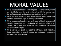 importance of moral values in education system are the present moral values for students a necessary part of the curriculum