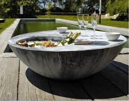 cool patio chairs the cool table outdoor table with ice bucket from domani cool