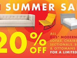 summer furniture sale. gus modern furniture summer sale m