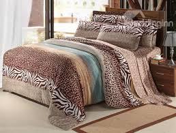 new arrival 100 cotton thick sanding leopard print 4 piece