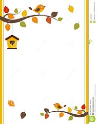 Invitation Card Sample Fall Card Template Stock Vector Illustration Of Frame 42401968