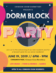 Block Party Flyers Templates Dorm Block Party Flyer Template Postermywall