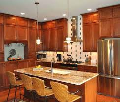 cherry vs maple kitchen cabinets wooden natural cherry kitchen cabinets also stone and brown chairs wonderful