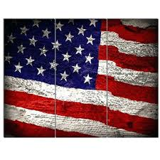 us flag photo background large 3 piece wall art on wrapped canvas american flag