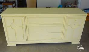 diy chalk paint dressed turned a console finished before handles added at thehappyhousie