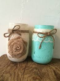 Mason Jars Decorated With Twine Hey I found this really awesome Etsy listing at wwwetsy 6