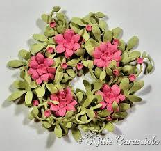 4 Petal Flower Paper Punch Wreath Garden Flowers And Foliage Tutorial Kittie Kraft