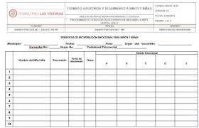 formato de asistencias formato asistencia y seguimiento a ninos y ninas v3 unidad para