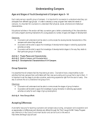 camp counselor resume sample
