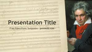 Music Powerpoint Template Free Beethoven Powerpoint Template For Download Prezenter