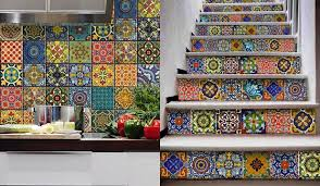 colourful tile decals on wall art tiles nz with six temporary decor items for your rental home stuff nz
