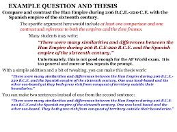 Comparative Essay Thesis Whap Comparison Essay Intro Thesis