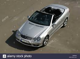 Car, Mercedes CLK 320, Convertible, model year 2003-, silver, open ...