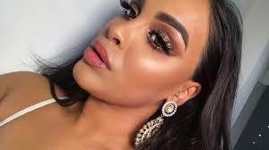bronze glitter diwali makeup look brown skin nikk