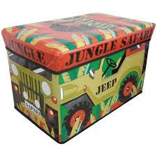 country club children s jungle safari jeep jumbo toy storage chest multi g t s original warehouse