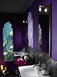 Purple Themed Bathroom Bathroom 2017 Eccentric Bathroom Area With Purple Wall Also