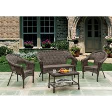 w unlimited brown wicker 4 piece outdoor furniture set free