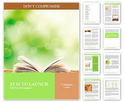 Word Background Template Open Book On Wood Planks Over Abstract Light Background Word Template
