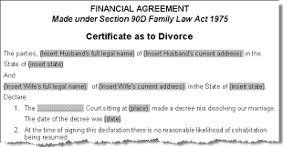 Example Of Divorce Decree Stunning Divorce Certificate Template