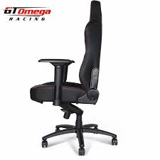 GT Omega MASTER XL Racing Office Chair Black Leather